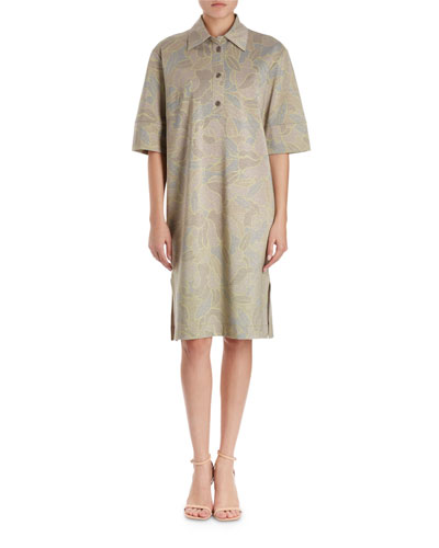 Hedie Polo-Style Floral Jersey Dress