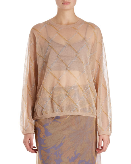 Dries Van Noten Javier Argyle Voile Top and