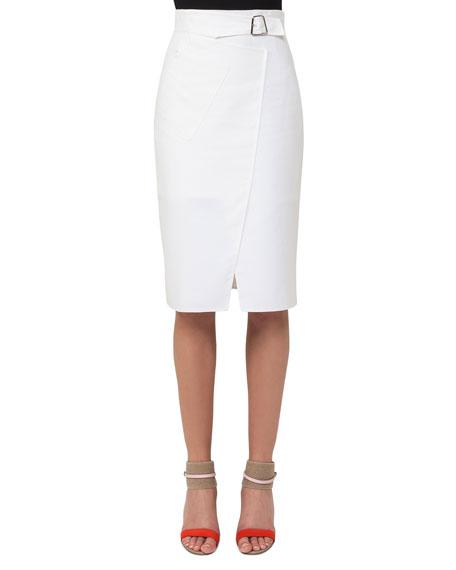 Akris Double-Face Wrap Skirt