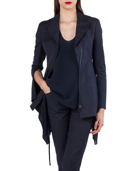 Double-Face Stretch-Sateen Jacket