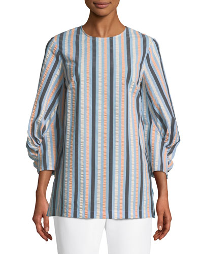 Full-Sleeve Striped Blouse