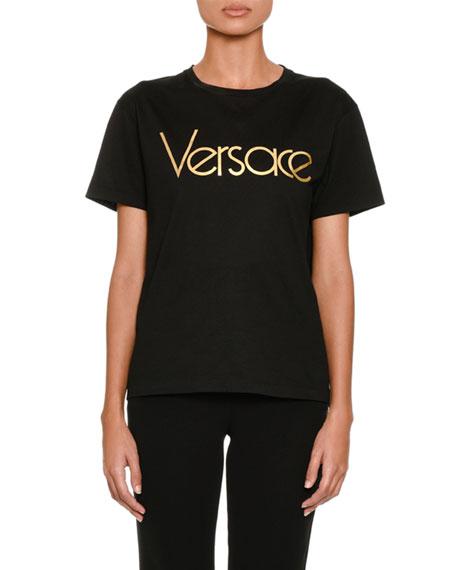 Versace Short-Sleeve Crewneck Logo T-Shirt and Matching Items