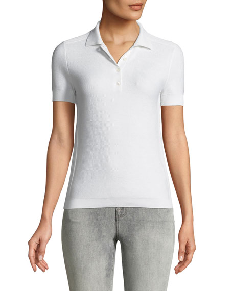 Loro Piana Beau Solo Silk/Cotton Polo Shirt