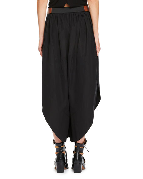 Wide-Leg Sahara Pants with Leather Belt