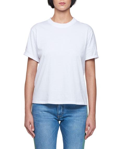 Round-Neck Short-Sleeve Cotton T-Shirt