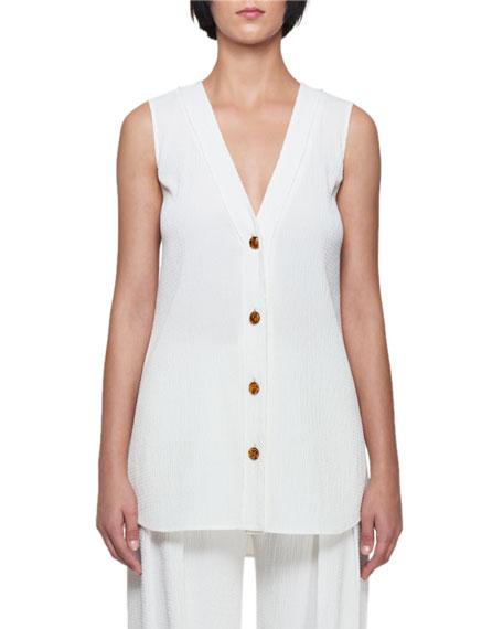 Deep-V 4-Button Vest