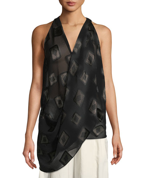 Urban Zen Draped Block-Print Top and Matching Items