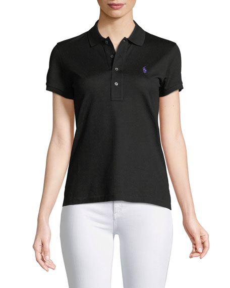 Short-Sleeve Knit Polo Shirt