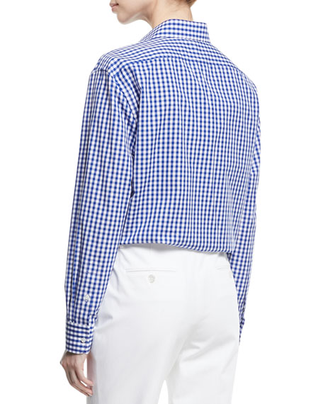 Adrien Gingham Check Cotton Shirt