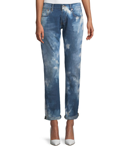Mid-Rise Straight-Leg Coastal Denim Jeans
