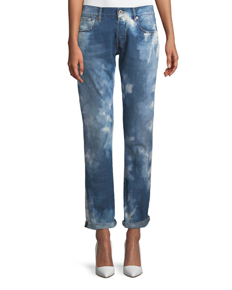 Ralph Lauren Collection Mid-Rise Straight-Leg Coastal Denim Jeans
