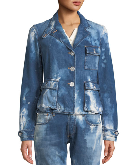 Isabele Coastal Denim Safari-Style Jacket