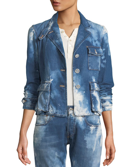 Ralph Lauren Collection Isabele Coastal Denim Safari-Style Jacket
