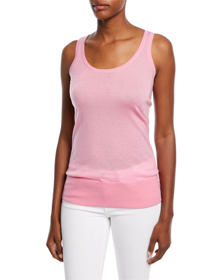 Cashmere Featherweight Tank Top by Michael Kors Collection