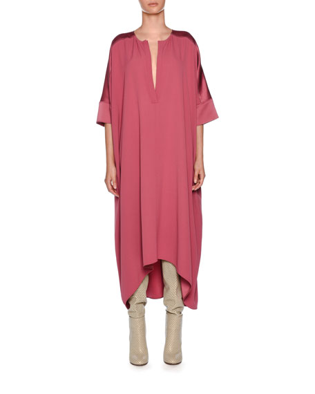 Matte Satin Crepe Cocktail Kaftan