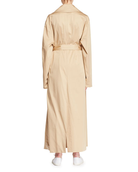 Moora Notched-Collar Belted Stretch-Poplin Trench Coat