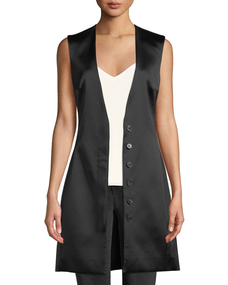 Lafran V-Neck Satin Vest