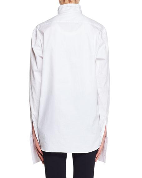 Betta Button-Front Stretch-Poplin Shirt
