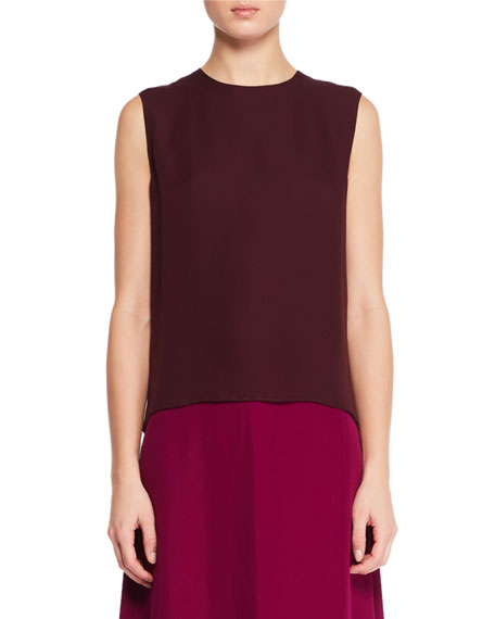 THE ROW Shelly Sleeveless Silk Top and Matching