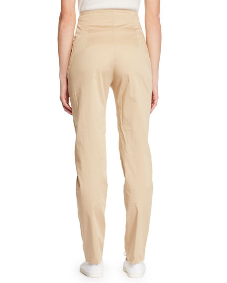 Keith High-Waist Straight-Leg Pants