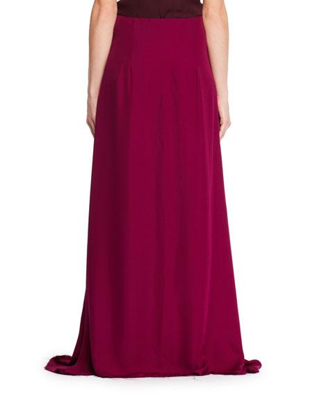 Vivi Long A-Line Silk Skirt
