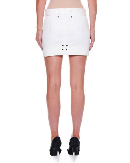 Cotton Twill Mini Skirt