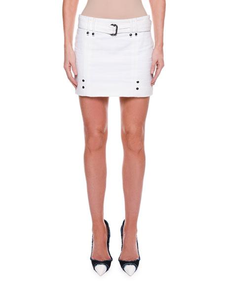 TOM FORD Cotton Twill Mini Skirt