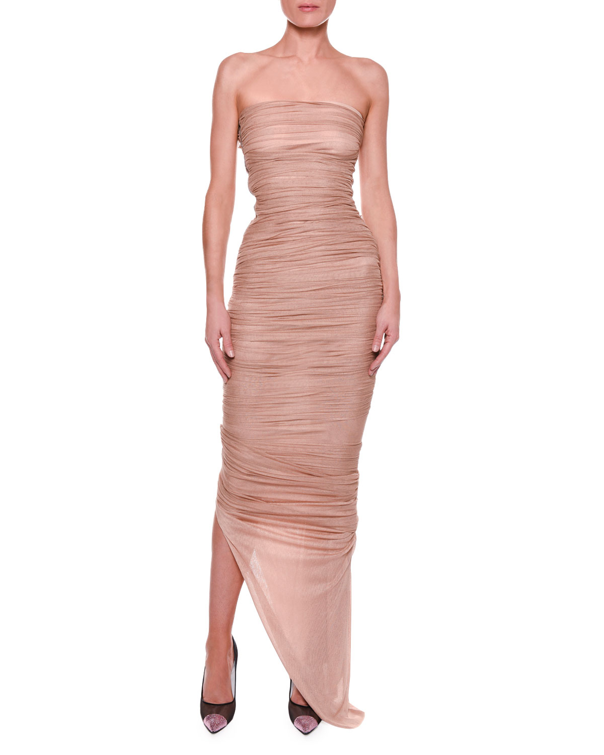 TOM FORD Strapless Bustier Ruched Gown   Neiman Marcus