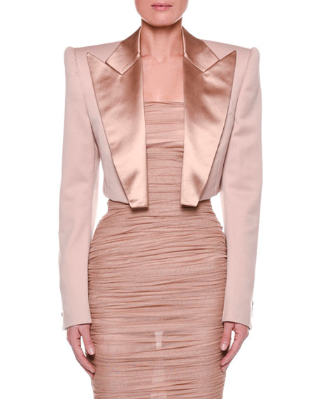 TOM FORD Satin-Lapel Cropped Jacket and Matching Items