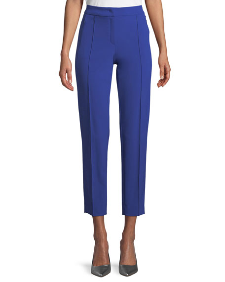 Escada Tusko High-Waist Straight-Leg Ankle Pants