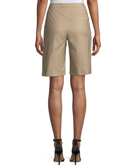 Stretch-Cotton Bermuda Shorts