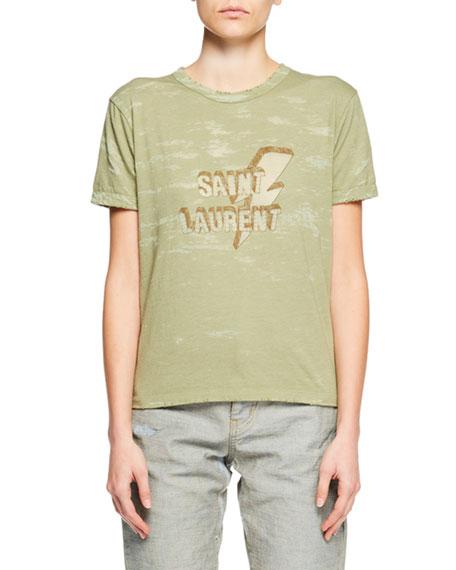 Saint Laurent Floral-Embellished Canvas Safari Jacket and