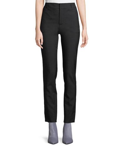 Classic Straight-Leg Wool Pants