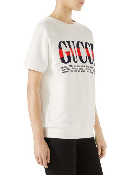 Short-Sleeve Gucci City Sweatshirt
