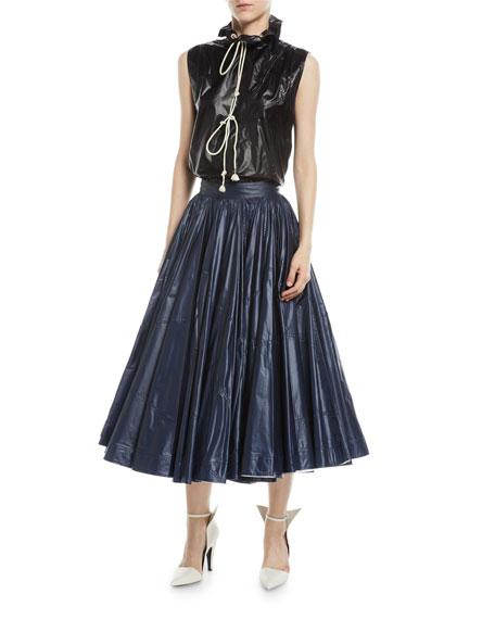 Very Full-Circle Nylon Skirt