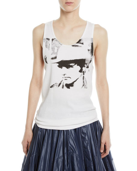 Dennis Hopper Scoop-Neck Cotton Tank