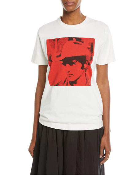 CALVIN KLEIN 205W39NYC Dennis Hopper Short-Sleeve Round-Neck