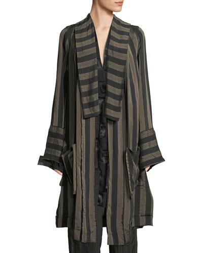 Kimono Striped Coat