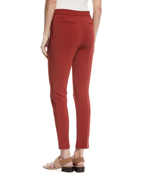 Cropped Skinny Stretch-Cady Pants