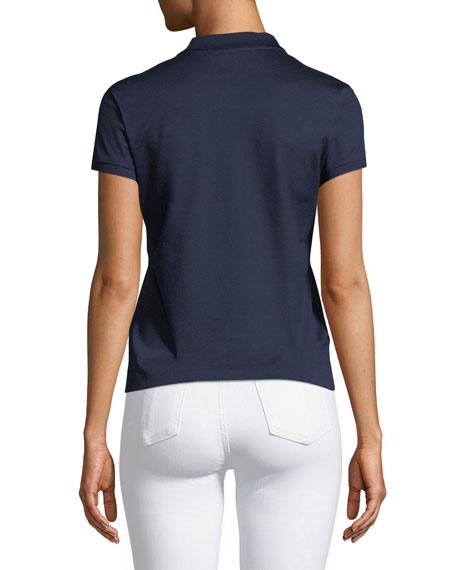 Short-Sleeve Knit Polo Shirt
