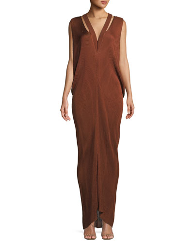 V-Neck Sleeveless Knit Gown