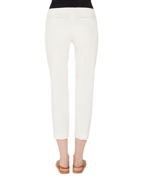 Frances Skinny-Leg Cotton Gabardine Cropped Pants