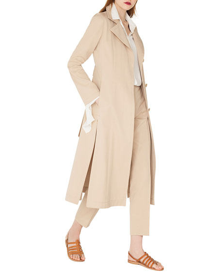 Akris Teri Single-Breasted Belted Cotton-Silk Gabardine Trench