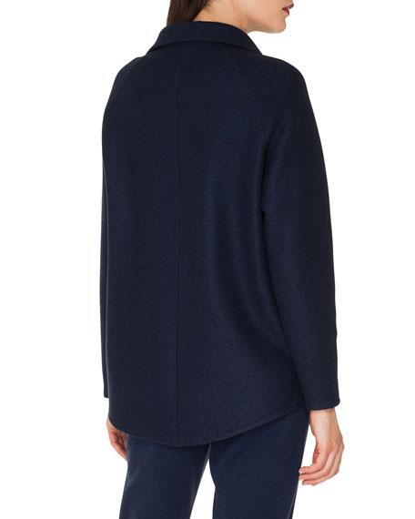 Ray Zip-Front Raglan-Sleeve Cashmere Jersey Jacket