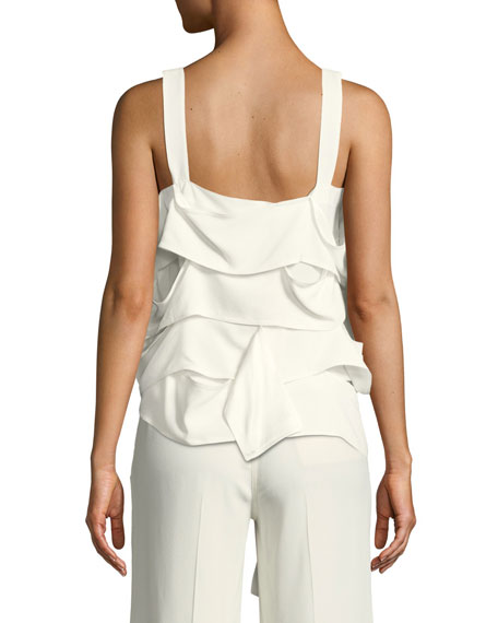 Draped-Panel Georgette Camisole