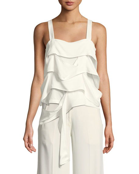 Derek Lam Draped-Panel Georgette Camisole and Matching Items