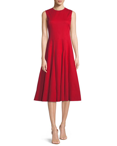 Sleeveless Fit-and-Flare Cocktail Dress