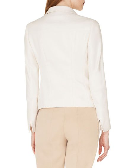 Samir Button-Front Silk-Cashmere Short Jacket