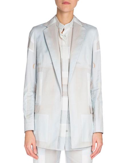 Long-Sleeve Slim-Fit Jacket, Blue
