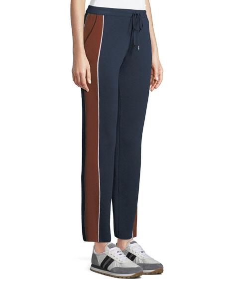 Drawstring High-Rise Tapered-Leg Athletic Pants